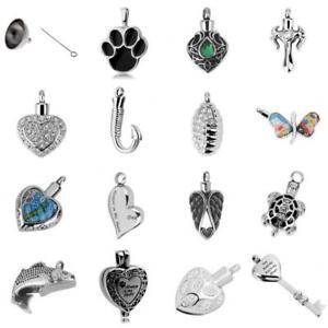 Always in my heart Urn Pendant Memorial Ash Keepsake Cremation Jewelry / Funnel