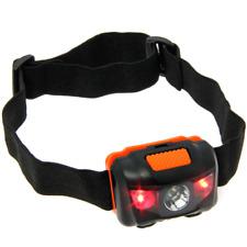 LED Stirnlampe Kopflampe Stirnleuchte Headlamp Headlight weiße und rote LED