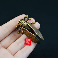 vintage chinese bronze art carving cicada