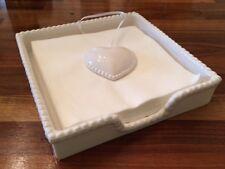 SHABBY Chic Rustico Vintage in Ceramica con perline cuore NAPKIN HOLDER REGALO CUCINA
