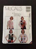 McCall's Vest Pattern # 7892 Creative Clothing Size (20-22) Ex Large Uncut