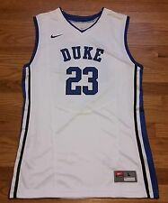 New Nike Men's L Duke Blue Devils Team Devastate Basketball Jersey White $70