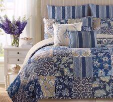 "B Smith Block Island Blue Stripe Euro Pillow Sham 26"" X 26"" Brand New"