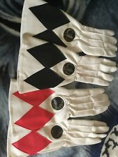 Vintage 1994  Mighty Morphin Power Rangers Black & Red Ranger Gloves Bandai