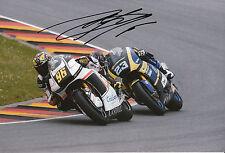 Louis Rossi main signé SAG Kalex 12x8 photo 2014 Moto2 1.