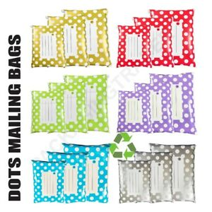 Polka Dot Mailing Bags Printed Post Poly Plastic Coloured Self Seal All Sizes