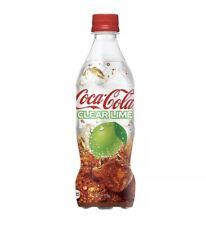 Coca Cola Clear Lime 500mL 17oz Transparent Coke Bottle Japan Soda Drink SEALED