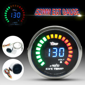 2'' 52mm EGT LED Digital Exhaust Gas Temp Temperature Gauge Meter Sensor Analog