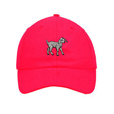 White Baby Goat Embroidered SOFT UNSTRUCTURED Hat Baseball Cap