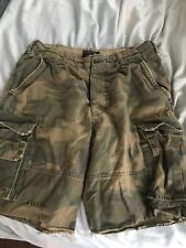 Abercrombie and Fitch Mens Camo Cargo Shorts Size 34 VINTAGE