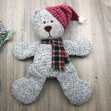 Russ Berrie Cordy Retired Sampler Bear Christmas Folk Country 43cm
