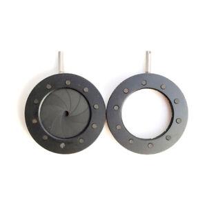 1pc  Optical Iris Diaphragm 1-16mm Manual Aperture Condenser f/Camera Microscope