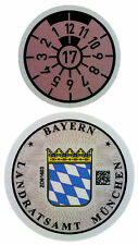 German License Plate Registration Seal (M) Munich BMW 2017 Set