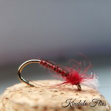 Lightweight Red Holo Buzzers size 14 (Set of 3) Fly Fishing Flies  Bloodworm