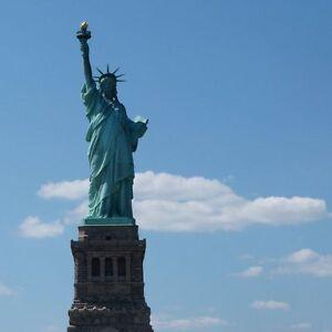 Photo Print New York City Skyline Statue of Liberty 8x8 Architecture Wall Decor
