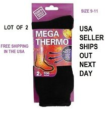 LOT OF 2 UNISEX Heated Socks Thermal MEGA THERMO 2.3 TOG/ 9-11 FREE SHIPPING