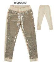 Pantalone Tuta Con Paillettes Ragazza Sarabanda W442
