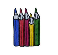 Coloured Pencils Iron on Patch