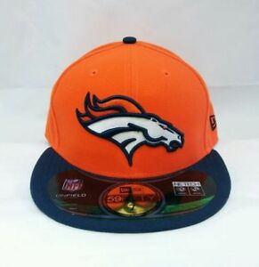 Denver Broncos New Era 59 Fifty Fitted hat - size 7 5/8 nwt Free Shipping