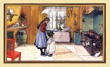 Carl Larsson pintor suecia cocina mantequilla golpear lw1