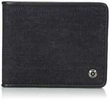 NEW men's LEE slimfold RFID blocking WALLET security BIFOLD denim blue CARD CASE