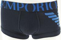 EMPORIO ARMANI Homme Boxer tronc Eagle,blue marins velur,Noir Taille S, M, L, XL