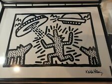 KEITH HARING  Poster DOGS WITH UFOS 1982 Moco Museum