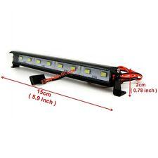 RC 1/10 Aluminum LED Light Bar 6V ~ 7.4V JR Plug 8 lights For Axial RC4WD Tamiya