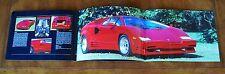 Lamborghini Countach 25th Anniversary brochure Prospekt, 1988