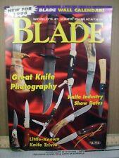 BLADE MAGAZINE 1998 KNIFE CALENDAR SPYDERCO BENCHMADE BOKER KERSHAW GERBER BUCK!
