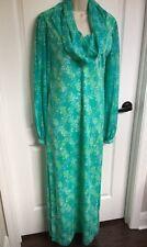 Vintage Vanda Key West Hand Print Women's Maxi Dress Size 10