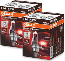 2X H4 Headlight Bulbs Osram Night Breaker Silver Lamps Lamp Bulb Car Since