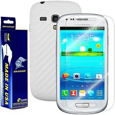 ArmorSuit MilitaryShield Samsung Galaxy S3 Mini Screen + White Carbon Fiber Skin
