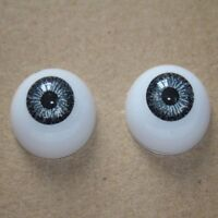 22mm Half Round Acrylic doll Eyes Reborn Baby Doll Grey Eyeball handmade diy toy