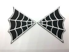 Pair - Spiderweb Collar Iron-On/Sew-On Embroidered Patch