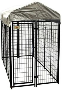 4 x 8 x 6 ft Galvanized Steel Dog Fence Kennel Waterproof Pet Cage Panel House