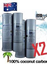 2 SET UNDERSINK WATER FILTER REPLACEMENT CARTRIDGES SEDIMENT+ COCONUT CARBON ✅✅