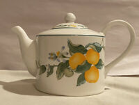 "Julie Pople Country Fruit Collection 5 3/4"" TEAPOT with Gorgeous Farmhouse Decor"