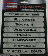 tool box magnets snap on matco craftsman label screwdriver ratchet socket wrench