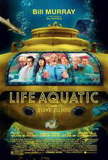 THE LIFE AQUATIC WITH STEVE ZISSOU Movie POSTER 27x40 Bill Murray Owen Wilson