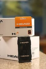 "Head Racquetball Wristband Sweatband Black Color, Regular 3"". One Pair"