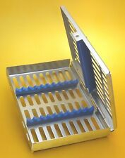 Strumenti Dentali CASSETTA STERILIZZAZIONE Rack per 10 strumenti chirurgici LAB