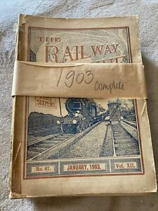 The Railway Magazine 1903 full set of 12 copies for the year 1903 - RARE