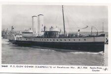 Glen Gower at Newhaven Paddle Steamer Modern Postcard by Pamlin SM643