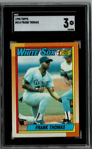 1990 Topps - Sammy Sosa and Frank Thomas - SGC Graded - Chicago White Sox