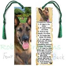 BELGIAN MALINOIS Dog RULES Large BOOKMARK Property Laws Book Card Art Figurine