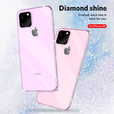 Luxury Diamond Ultra-thin Soft Silicone TPU Case Cover For iPhone 11 Pro Max X 8