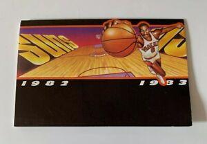 1982 1983 Phoenix Suns NBA Pocket Schedule Walter Davis BlueCross BlueShield