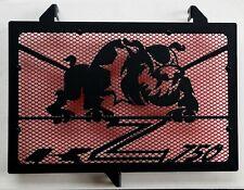 cache grille radiateur Kawasaki Z750 07>12 Bulldog noir mat + grill rouge