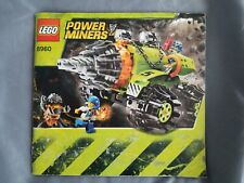 Lego Thunder Driller 8960 MANUAL ONLY Instruction Book Power Miners